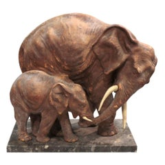 20th Century Italian Sculpture with Elephants Attributed to Guido Cacciapuoti