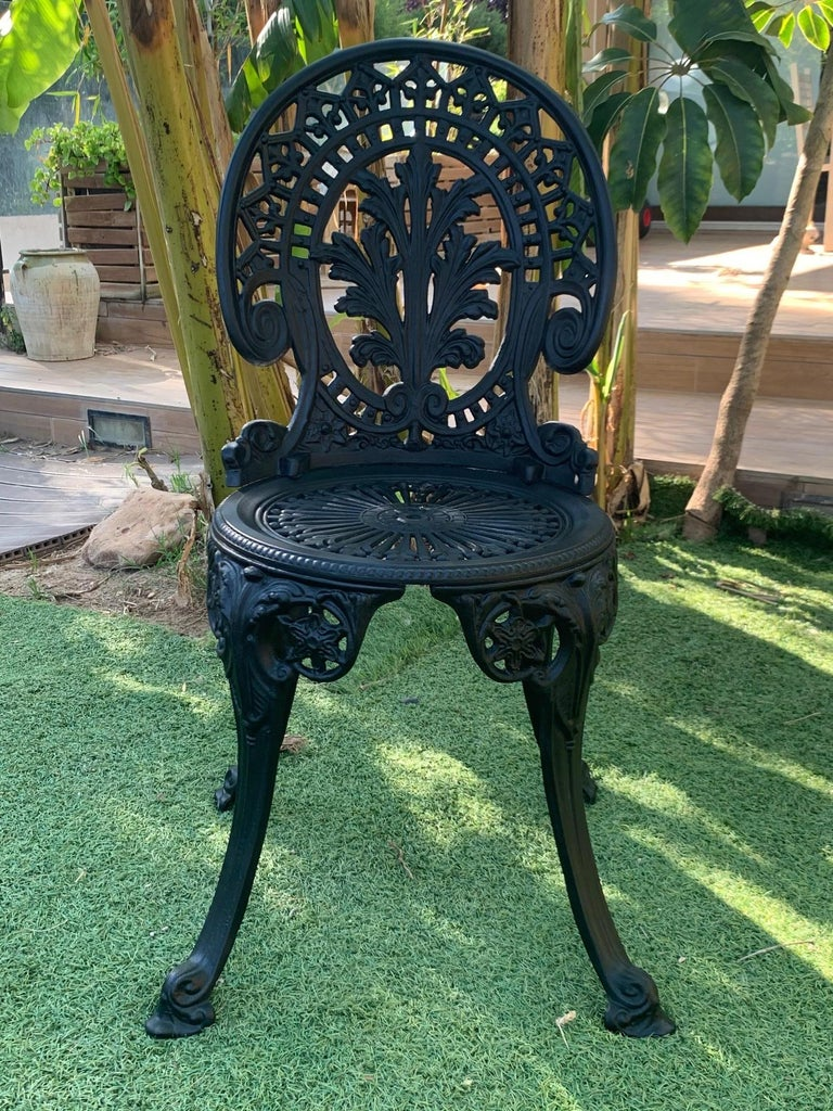 Neoclassical Revival 20th Century Renaissance Revival Style Pair of Back Garden Chairs