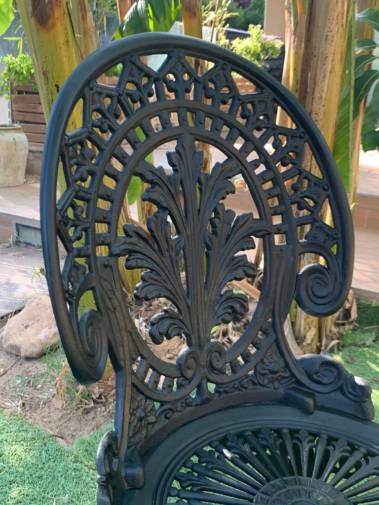 20th Century Renaissance Revival Style Pair of Back Garden Chairs 1