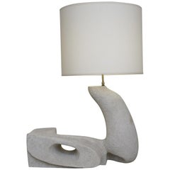 20th Zoomorphic Stone Table Lamp