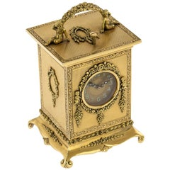20th Century 18-Karat Gold Quarter Repeating Carriage Clock, London, circa 1924