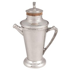 "20th Century American Silver Plated ""Recipe"" Cocktail Shaker, circa 1930"