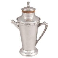 "20th Century American Silver Plated ""Recipe"" Cocktail Shaker, circa 1930"