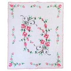 20Thc Applique Roses Quilt