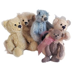 20th Century Collection of Five Contemporary Bears