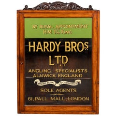 20thC English Angling Shop Display Cabinet, Hardy Brothers c.1910