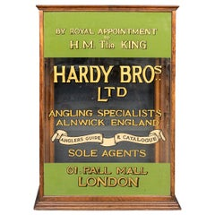 20thC English Angling Shop Display Cabinet, Hardy Brothers, c.1910