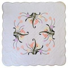 20th C Floral Applique Quilt