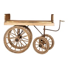 20th Century French Handcrafted Wooden Patisserie Cart, circa 1900