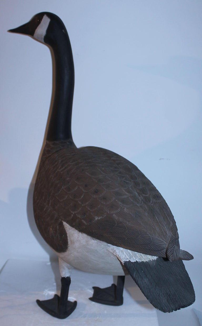 American 20th C Hand Carved & Painted Canadian Goose For Sale
