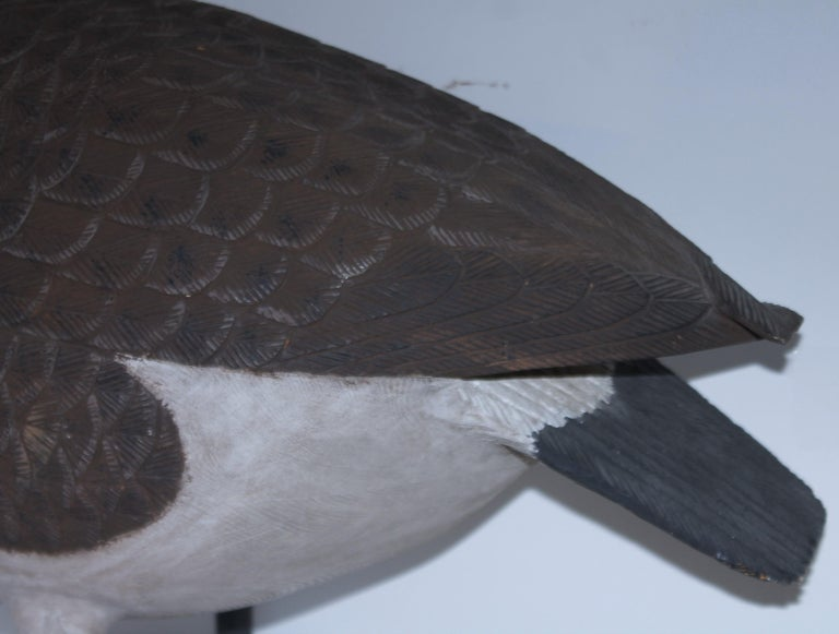 Mid-20th Century 20th C Hand Carved & Painted Canadian Goose For Sale