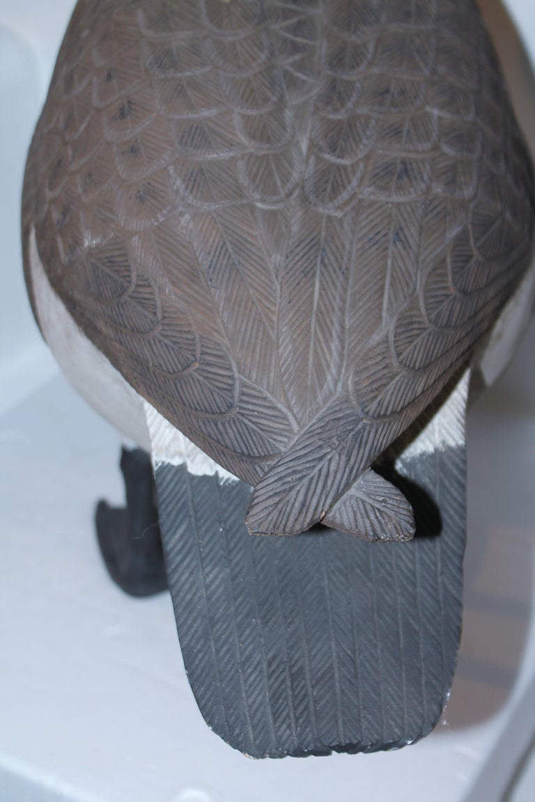 20th C Hand Carved & Painted Canadian Goose For Sale 1