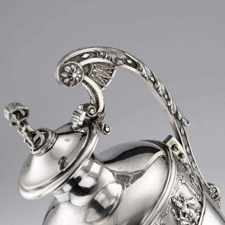 20th Century Indian Solid Silver 28th Regiment Ewer, P.Orr & Sons, circa 1900 For Sale 7