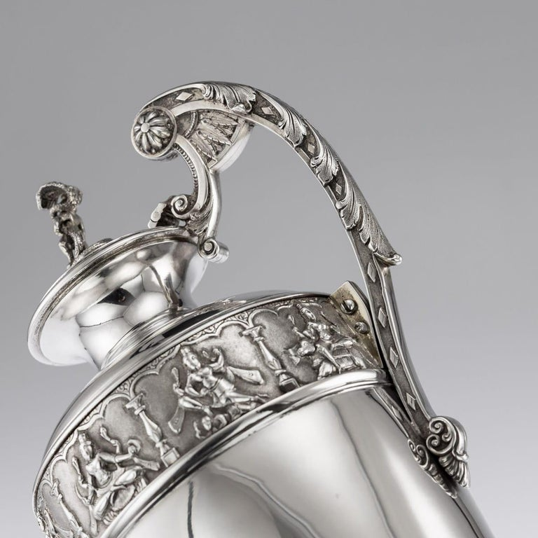 20th Century Indian Solid Silver 28th Regiment Ewer, P.Orr & Sons, circa 1900 For Sale 6