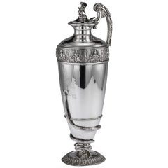 20th Century Indian Solid Silver 28th Regiment Ewer, P.Orr & Sons, circa 1900