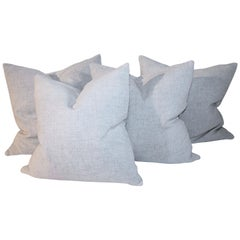20thc Linen Pillow Collection 'Two Pairs'