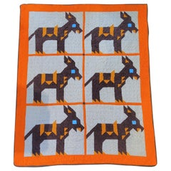20th Century Mid Western Donkey Quilt