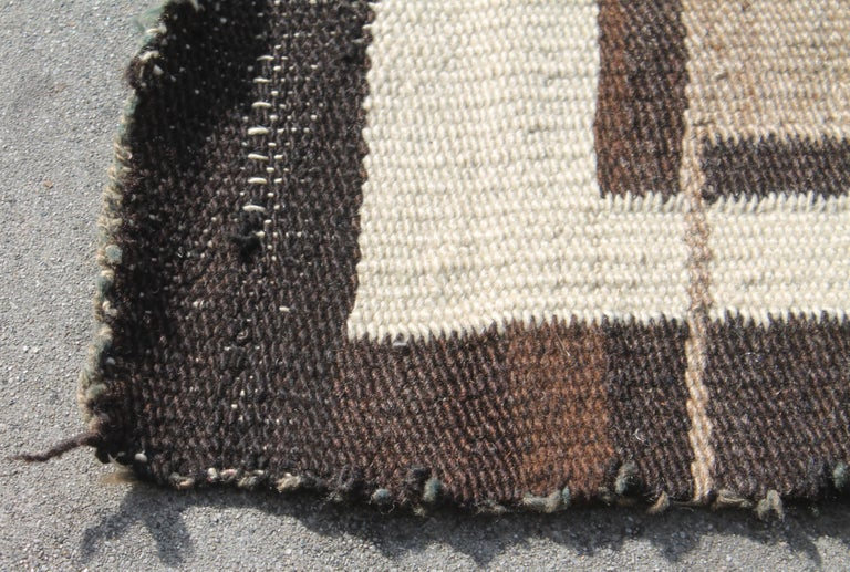 20th Century Navajo Indian Weaving Runner Rug For Sale 4