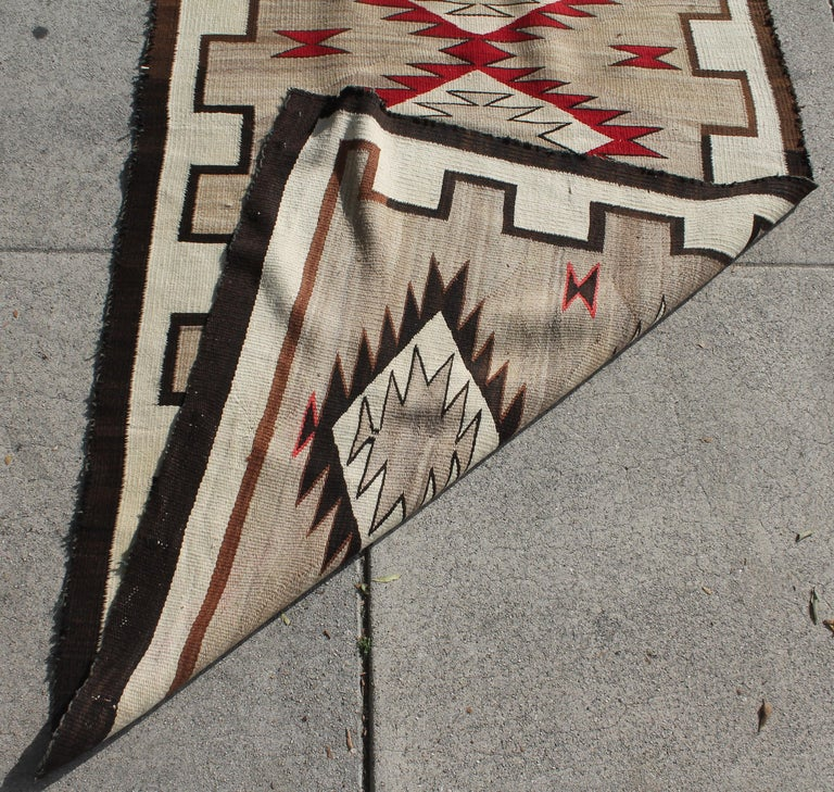 20th Century Navajo Indian Weaving Runner Rug For Sale 5