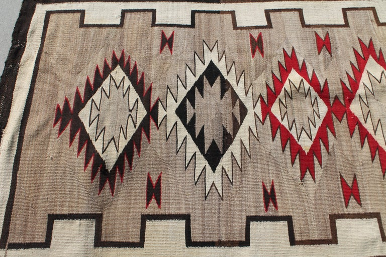 Adirondack 20th Century Navajo Indian Weaving Runner Rug For Sale