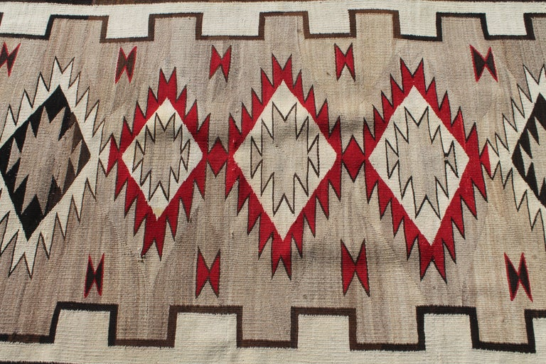 American 20th Century Navajo Indian Weaving Runner Rug For Sale