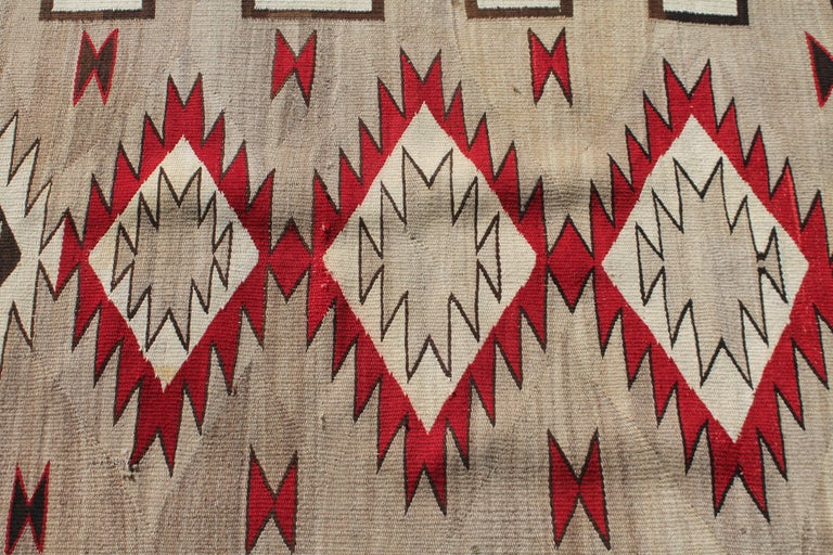 20th Century Navajo Indian Weaving Runner Rug In Good Condition For Sale In Los Angeles, CA