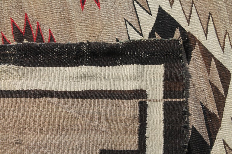 20th Century Navajo Indian Weaving Runner Rug For Sale 2