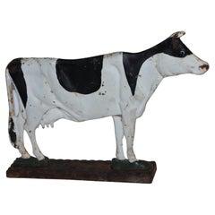 20th C Original Painted Cow Door Stop