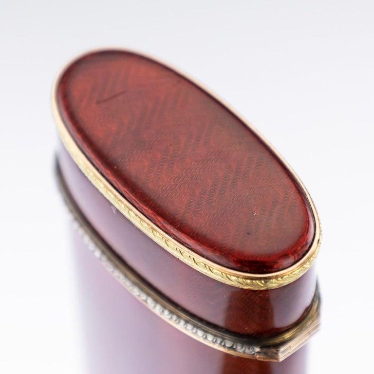 20th Century Russian Faberge Silver, Gold and Enamel Cigarette Case, circa 1900 For Sale 4