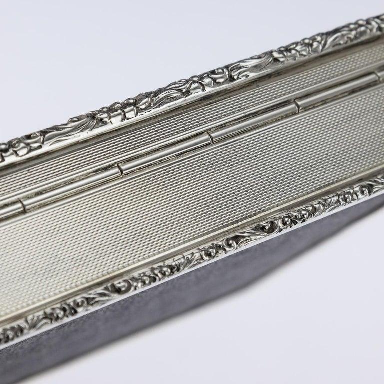 20th Century Solid Silver Cigar Box by Richard Comyns, circa 1960 For Sale 7
