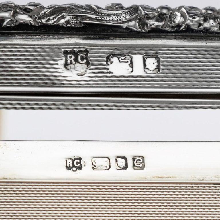 20th Century Solid Silver Cigar Box by Richard Comyns, circa 1960 For Sale 10