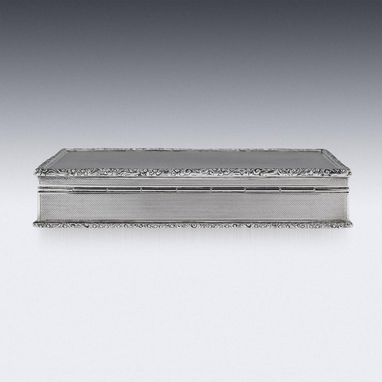 20th Century Solid Silver Cigar Box by Richard Comyns, circa 1960 In Good Condition For Sale In Royal Tunbridge Wells, Kent