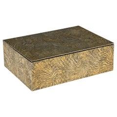 20th Century Tiffany & Co Silver-Gilt Samorodok Cigar Box, circa 1970