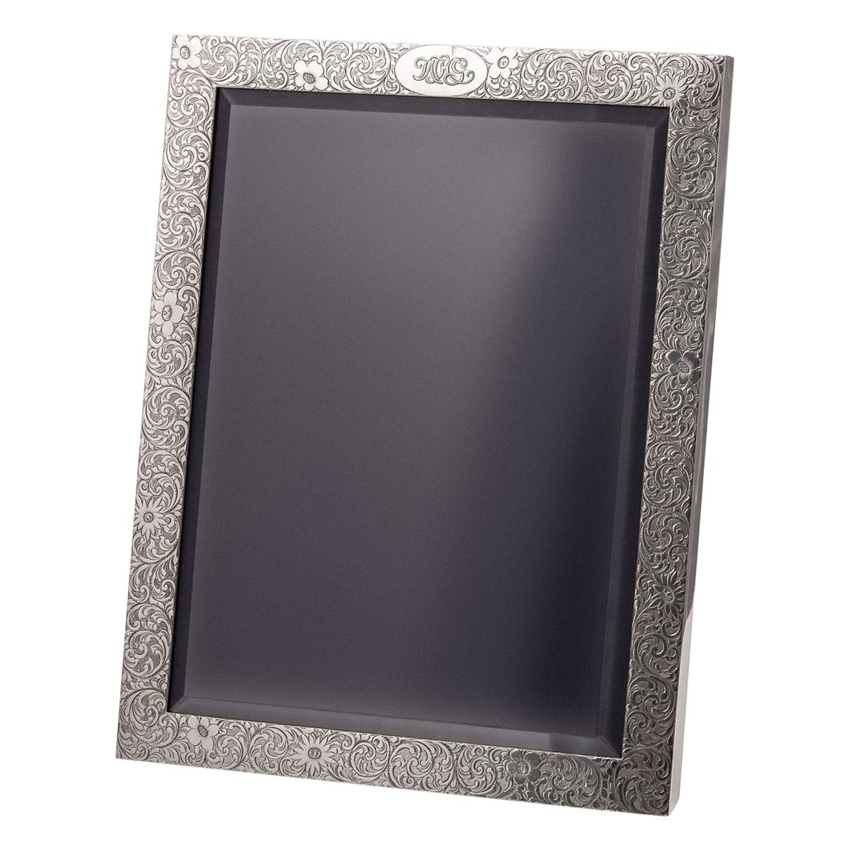 20th Century Tiffany & Co. Solid Silver Large Photo Frame, circa 1908