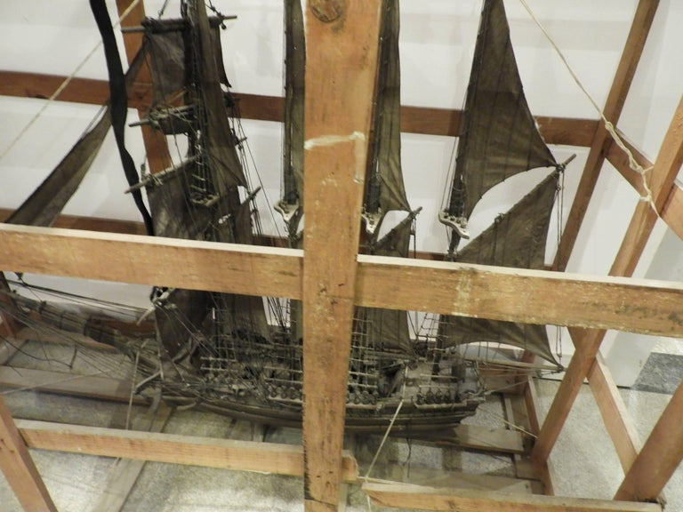 Spanish 20th Century Scale Model Sailing Boat For Sale