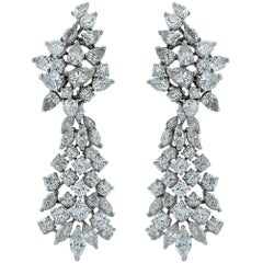 21 Carat Diamond Dangle Earrings
