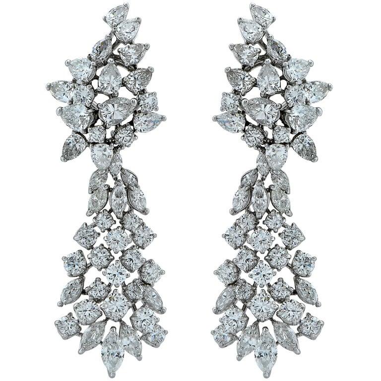 21 Carat Diamond Dangle Earrings