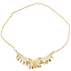 21 Karat Yellow Gold Indian Style Collar Necklace