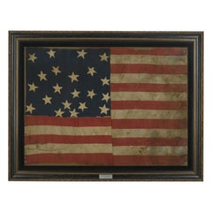 21-Star American Flag, Civil War Era, Antique Exclusionary Flag, circa 1861