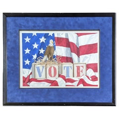 Vote Watercolor by Anne Kinder, 1999