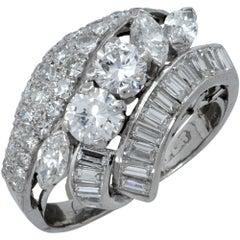 2.10 Carat Diamond Cluster Ring