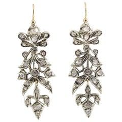 2.10 Carat White Diamond Yellow Gold Lever-Back Earrings