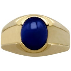 2.10 Carat Star Sapphire and Yellow Gold Dress Ring