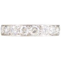 2.11 Carat Brilliant Cut Diamond Full Eternity Ring in Platinum
