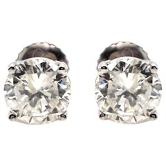2.11 Carat Diamond Stud Earrings