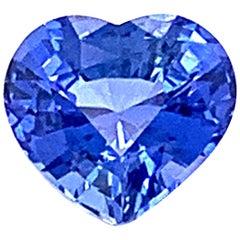 2.11 Carat Heart-Shaped Blue Sapphire