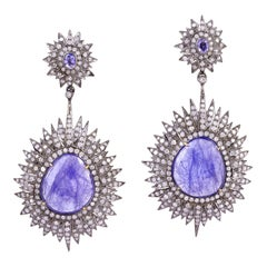 21.25 Carat Tanzanite Diamond Earrings