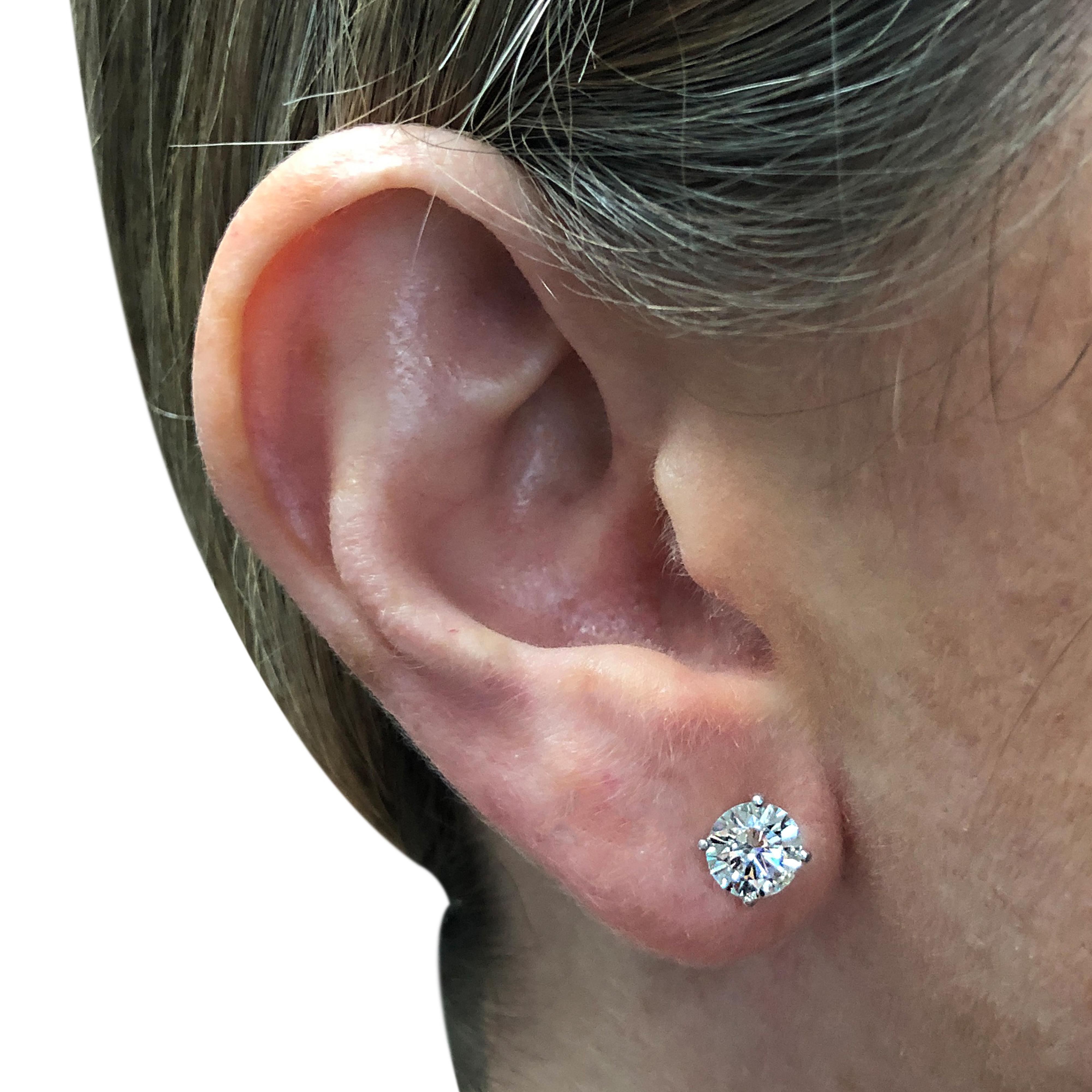 1 2 Carat Diamond Stud Earrings See