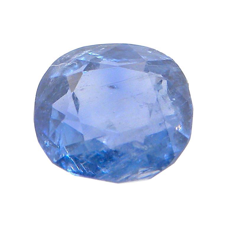 2.13 Carat GIA Certified Natural No Heat Cushion-Cut Blue Sapphire