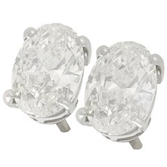 2.14 Carat Diamond and White Gold Stud Earrings
